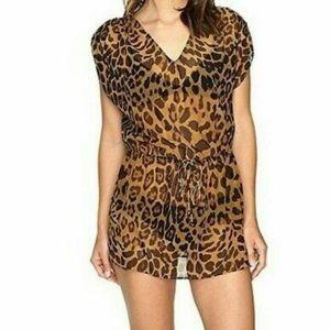 NWT Ralph Lauren leopard print swim coverup